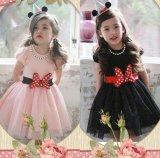 【韓国子供服】フワフワ ミニー リボンがポイント ミニーちゃんみたいになれちゃう ワンピース ディズニー /Dress ドレス