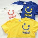 【韓国子供服】キッズ ユニセックス ハロー スマイリー  半そで Tシャツ/Kids Unisex Hello Smiley Short Sleeve T-shirt