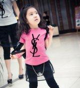 【韓国子供服】大人気ロゴ 半そで  パロディ トップス キッズ S/L 可愛い半袖Tシャツ