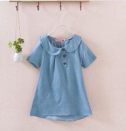 画像2: 【韓国子供服】ガールズ デニムカラーワンピース