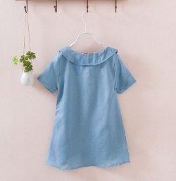 画像3: 【韓国子供服】ガールズ デニムカラーワンピース
