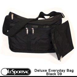画像1: 【正規品】【LeSportsac/レスポートサック】 7507 Deluxe Everyday Bag デラックスエブリデーバッグ /5922 Black 09 ブラックお受験 私学 サブバックに