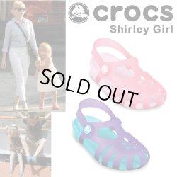 画像1: 【正規品】Crocs Shirley Girls キッズ
