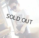 【韓国子供服】ショートスリーブTシャツ 今日は何をきていこうかな? ロゴ ティーシャツ  ロゴT キッズ