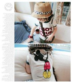 画像3: 【特別価格】【韓国子供服】キッズ ユニセックス 人気 ミッキー柄 半そで Tシャツ/Kids Unisex Mickey Short Sleeve T-shirt