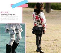 画像2: 【韓国子供服】フリルスカートレギンス スカートが一緒になった スカッツ 厚手起毛 あったか  レギンス 5色ご用意♪
