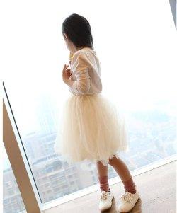 画像1: 【韓国子供服】人気ふわふわ チュール スカート シフォン パ二エスカート