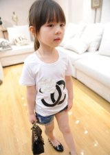 【韓国子供服】キッズ CC 人気 可愛い半袖Tシャツ パロディ