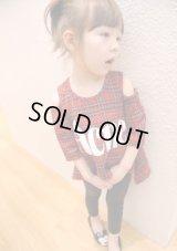 【韓国子供服】キッズ 女の子 チェック ロングスリーブ カットソー/Kids Girl,Checked Long Sleeve Shirt