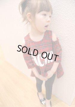 画像1: 【韓国子供服】キッズ 女の子 チェック ロングスリーブ カットソー/Kids Girl,Checked Long Sleeve Shirt