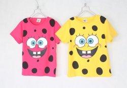 画像1: 【韓国子供服】スポンジボブ ショートスリーブT シャツ ティーシャツ キッズ