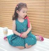 【韓国子供服】キッズ 女の子 ドット ワンピース /Girl,Dot One Piece Dress