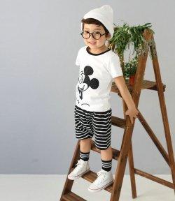 画像1: 【韓国子供服】ミッキーセットアップ ミッキーマウス