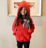 【韓国子供服】アニマル耳が可愛いあたたかフーディ