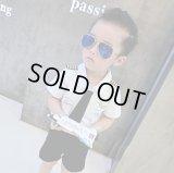 【韓国子供服】キッズ パイロット パロディー ユニホーム セットアップ 上下